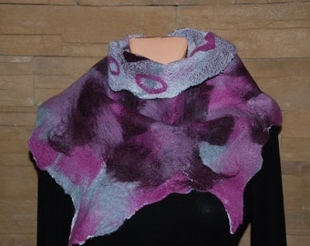 Felted Women Triangle  Scarf