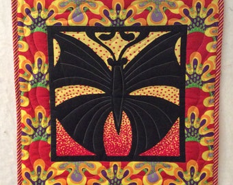 Quilted Butterfly Wall Hanging