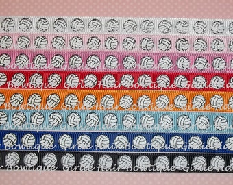 """3/8"""" Volleyball Sports Grosgrain Ribbon 5 yds- Ribbon by the Yard"""