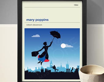 Mary Poppins Movie Poster - Movie Poster, Movie Print, Film Poster, Film Poster