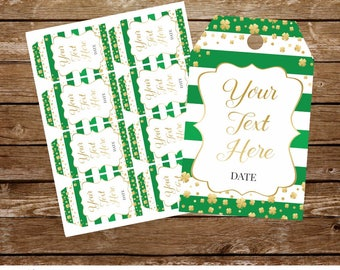 St Patricks tags St Patricks party tags printable St Patricks birthday gift tags St Patrick's Day tags shamrock tags lucky in love tags 295