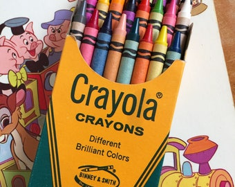 Vintage 1960s Crayola Crayon 24 Count Set Boxed Unused VGC