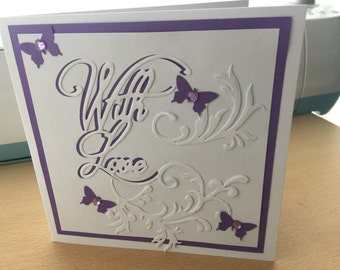 With love women's birthday greetings card created by Designs by xpression