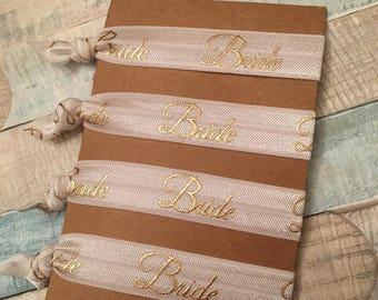 Set of 4 - Bride Elastic Ties, Bracelet