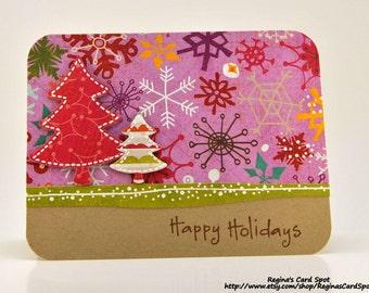 Funky, Retro Holiday Card