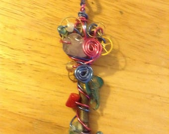Steam punk skeleton key wire wrapping jewelry