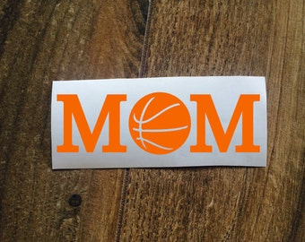 Basketball Mom Decal Sticker / Laptop Decal / Car Window Decal Sticker / Mother Yeti Decal Sticker / Sports Mom Decal / Basketball Sticker