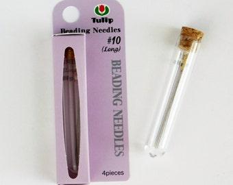 Tulip Beading Needles_Size 10 Long Beading Needles_4 pieces_Bead Embroidery