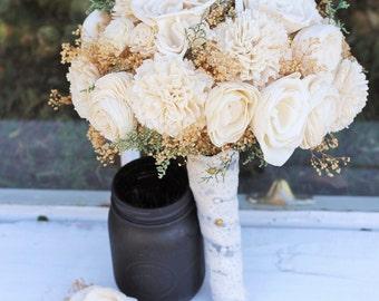 Wedding Bouquet, Winter Bouquet, Fall Bouquet, Spring Bouquet, Sola Bouquet, Rustic Wedding, Alternative Bouquet