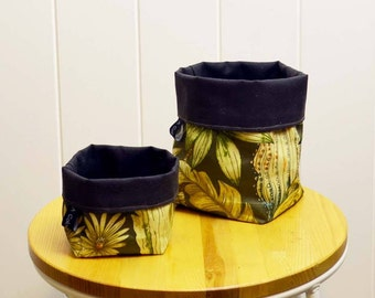 Cactus Design Fabric Pot/Pouch