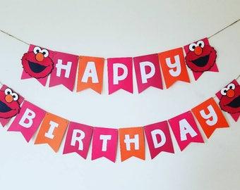 Elmo birthday banner,elmo banner,elmo 1st birthday decor,elmo birthday decorations,elmo cake smash banner,elmo photo prop,elmo back drop