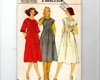 1970s Vogue Patterns Uncut Sewing Pattern Misses 10 High Fitted Dress Bodice Front Tucks