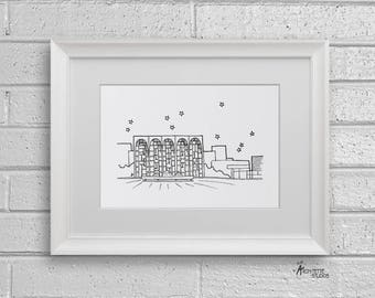 Lincoln Center, New York City - Instant Download Printable Art - Sketch Series