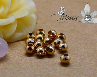 400pcs, beads, metal, 3.2 mm, gold, silver