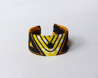 Cuff Bracelet wax graphic fabric