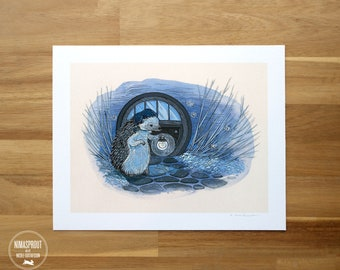 Sleepy Hedgehog - Fine Art Print by Nicole Gustafsson