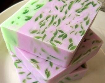 Blooming Lilac Goat Milk Soap, Glycerin Soap, Homemade Soap, Floral Soap, Homemade goat milk soap