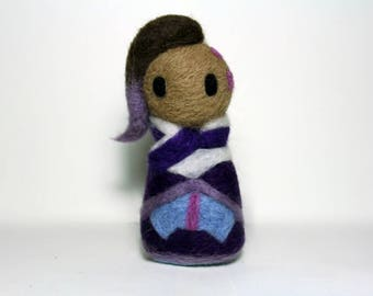 Needle Felted Sombra Overwatch Plushie [MADE-TO-ORDER]