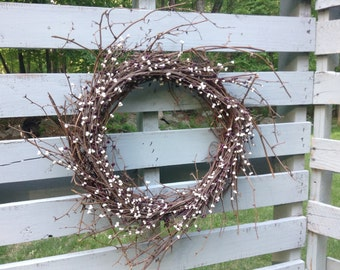 Farmhouse Decor, Rustic Wreath, Front Door Wreath, Wedding Wreath, Country Home Decor, Housewarming, Rustic Decor, Spring Wreath, Easter