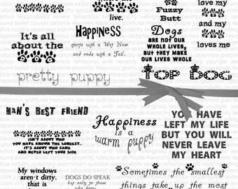 Dog Quotes Digital Word Art Planner Sticker Pet