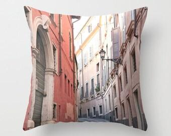 Velveteen Pillow - Italy Pillow - Verona Street - Dorm Pillow - Teen Pillow - Girls Pillow - Dorm Decor - Teen Room Decor - Pastel Pillow