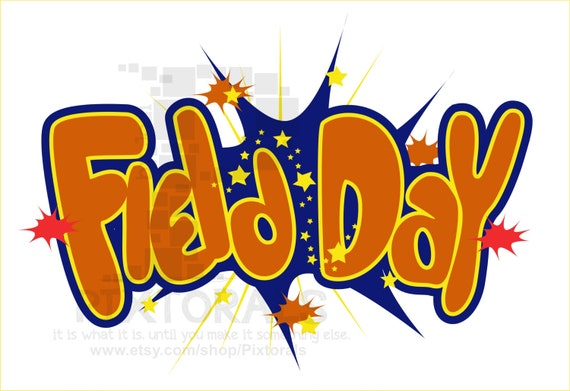 field day vector kids clipart comic style eps file rh etsy com field day clipart black and white field day clip art free