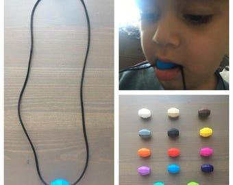 FDA Food Grade Silicone Chew Necklace, Sensory Chew Necklace, Chewlery, Autism chewing necklace
