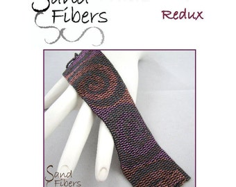 Peyote Pattern - Mirrored Swirls Redux Peyote Cuff / Bracelet  - A Sand Fibers For Personal/Commercial Use PDF Pattern