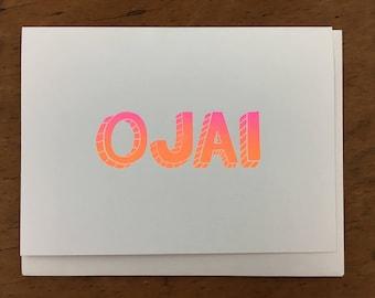 Ojai Greeting Card