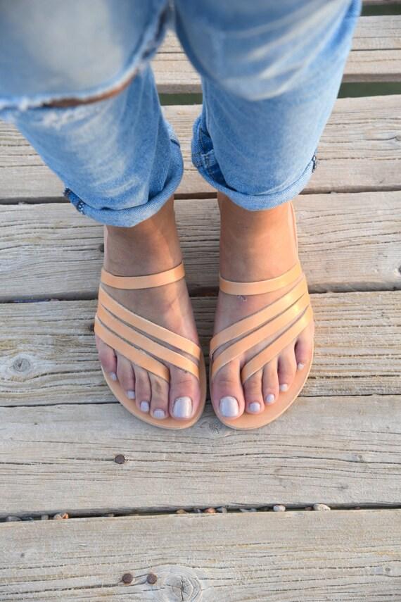 Natural Flats Summer Sandals Sandals Handmade Slip Leather Roman on Leather flats Greek Sandals Leather Sandals Sandals Women's xXqgTIw6