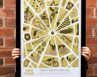 Twin Peaks A2 Poster Print - David Lynch & Mark Frost