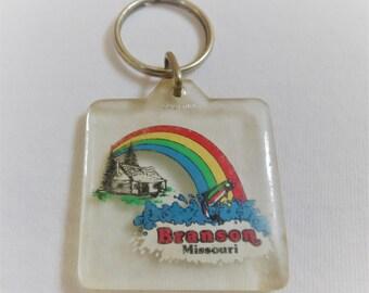 Branson Missouri Vintage Souvenir Key Chain The Ozarks Ozark Mountains