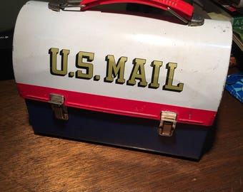 1960's U.S. mail dome lunch box