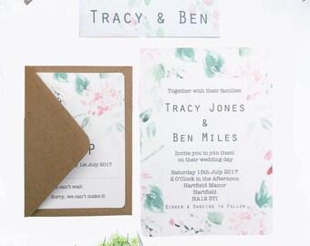 The Hydrangea Collection Digital Downloadable Printable DIY Wedding Invitation Set