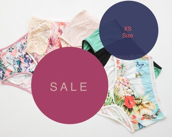 70% SALE! set of 5 pieces XS size hipster style panties.