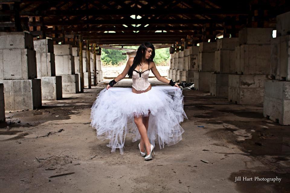 White Wedding Adult Tutu Tulle Skirt Formal Hi Low