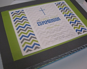 Boy's First Holy Communion - With Your invitation