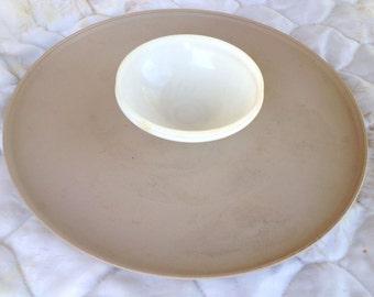 Vintage Tupperware Chip and Dip Serving Platter