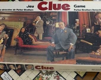 Clue board game.  Vintage 1972 by Parker Bros. Game pieces in good condition.  100% Complete and in FAB! condition for a 45-year old game!