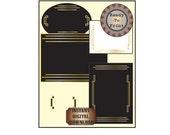 Roaring 20s Stationery Printable Set Prohibition Speakeasy Gatsby Era Stationery Digital Embellishment Blank Note Cards Art Deco Decorations