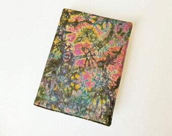 A5 'Batik' Planner Cover, Diary & Cover, Removable Book Cover, Fits Hobonichi Cousin, Batik Cotton, OOAK, UK Seller
