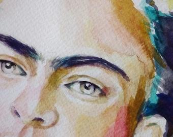 Frida Kahlo Art, Frida Original Painting, Frida Kahlo Painting, Frida Art, Frida Kahlo Quote, Mexican Art, Frida Kahlo Watercolor