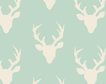 Buck Forest Mint HBR-4434-1 - Hello, Bear - Bonnie Christine - Art Gallery Fabric 100% Quilters Cotton - Your pick the Length