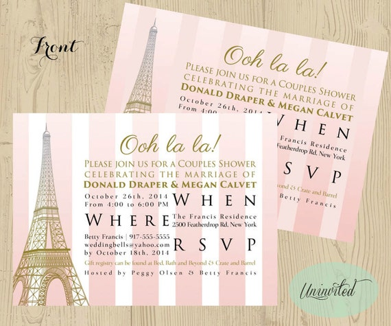 Pink and gold paris theme bridal shower bridal shower filmwisefo