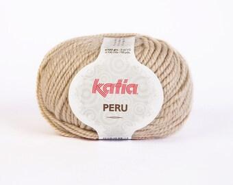 big yarn Katia - PERU - cowl beige n ° 7 40% wool, 20% Alpaca 40% acrylic