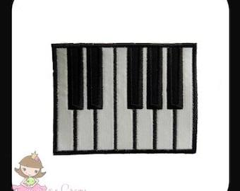 Piano Keys Applique design