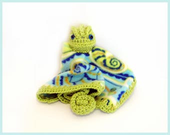 Chameleon Fleece Lovey Crochet Pattern