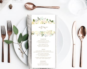 Menu Cards - White Summer (Style 13816)