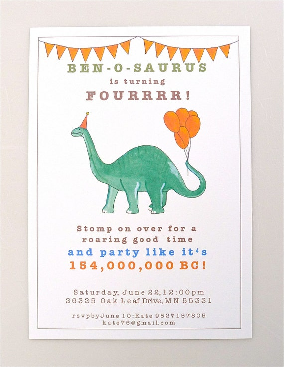 Sweet image for dinosaur invitations free printable