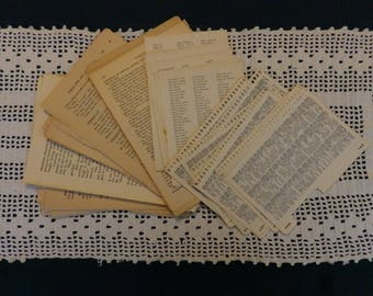 Old Book Pages, Pack of 60, Ephemera, Collage, Mixed Media, Children's Crafts, Journal Pages